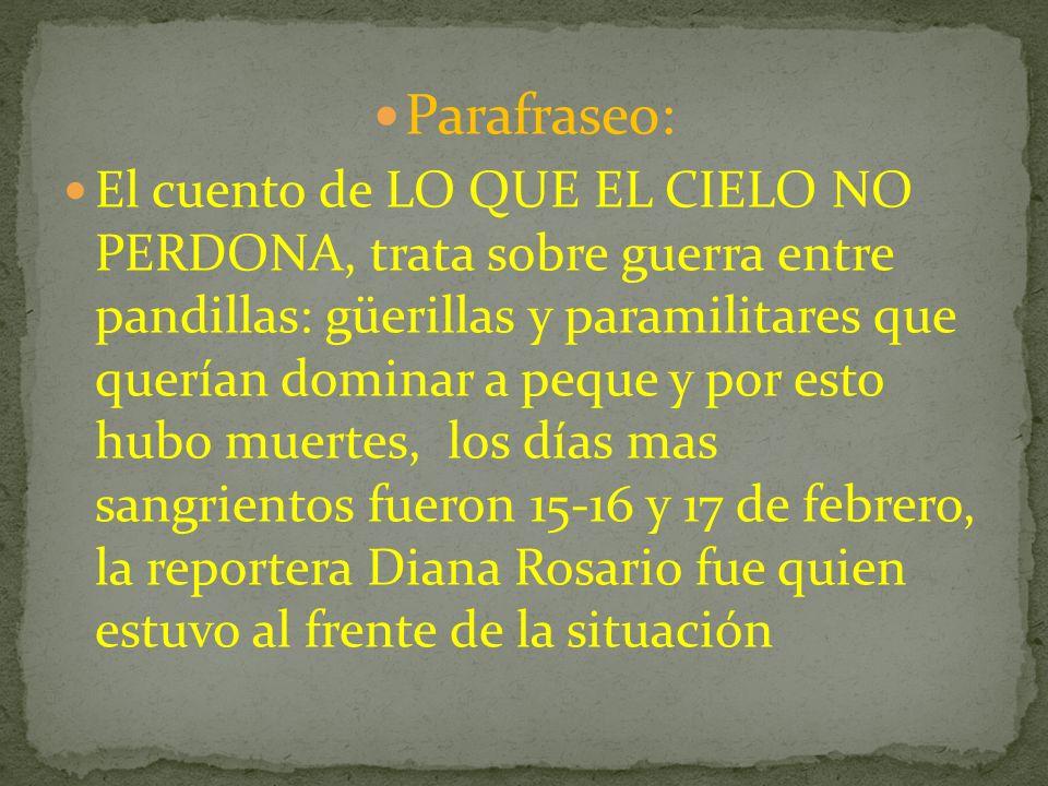 Parafraseo: