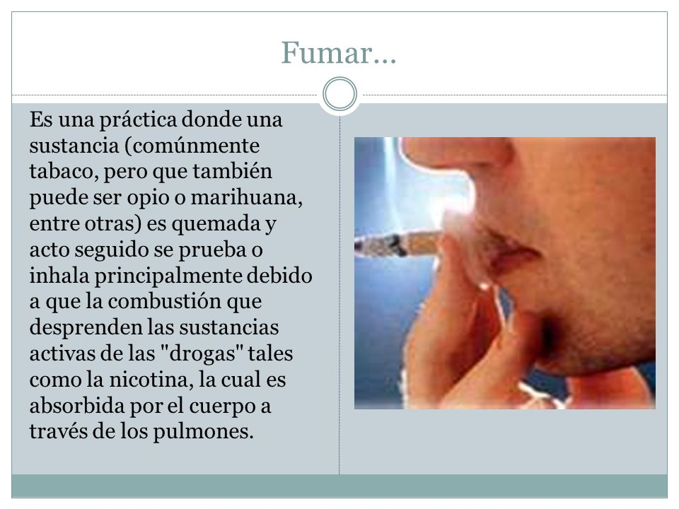 Fumar…