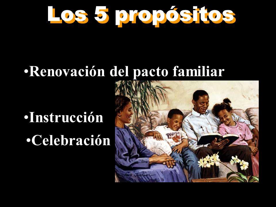 Los 5 propósitos Adoración Renovación del pacto familiar Sacrificio