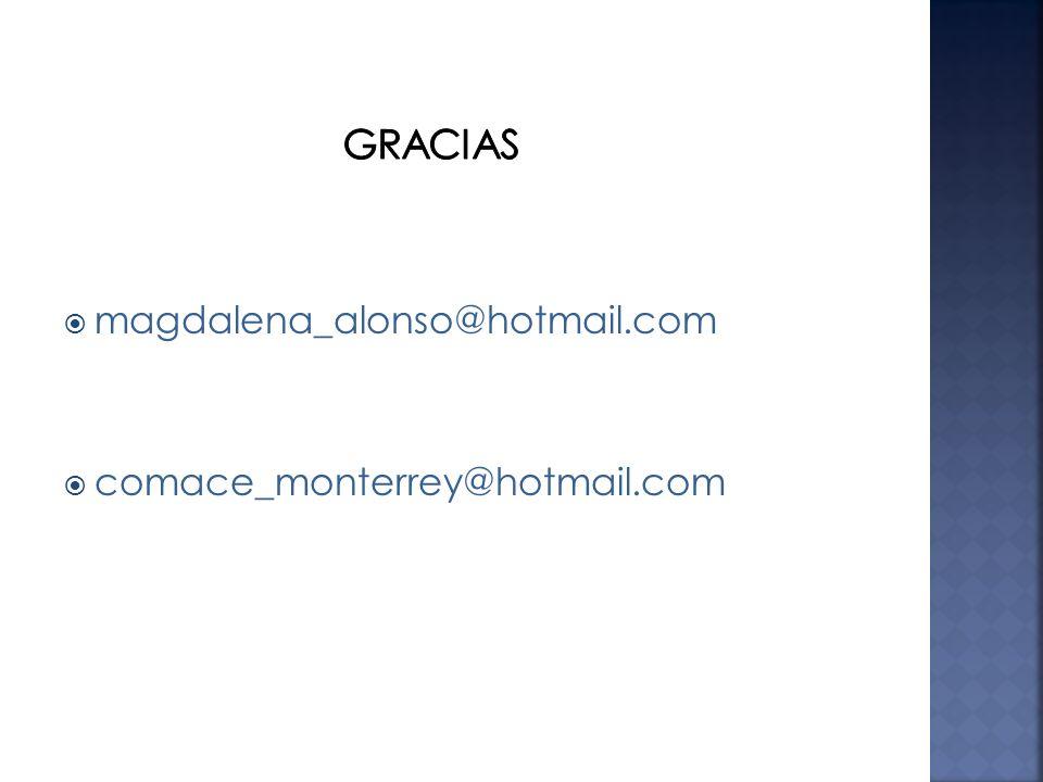 Gracias magdalena_alonso@hotmail.com comace_monterrey@hotmail.com