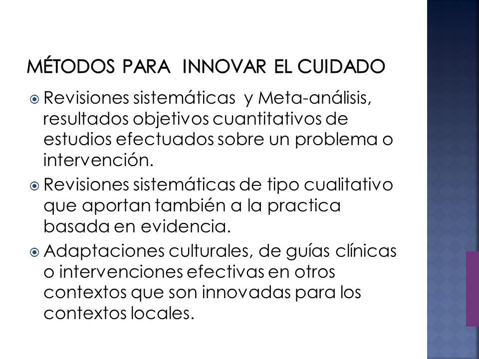 Métodos para Innovar el Cuidado