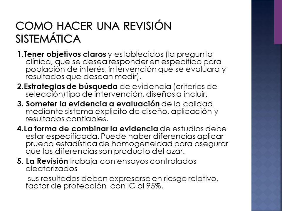 Como hacer una revisión sistemática