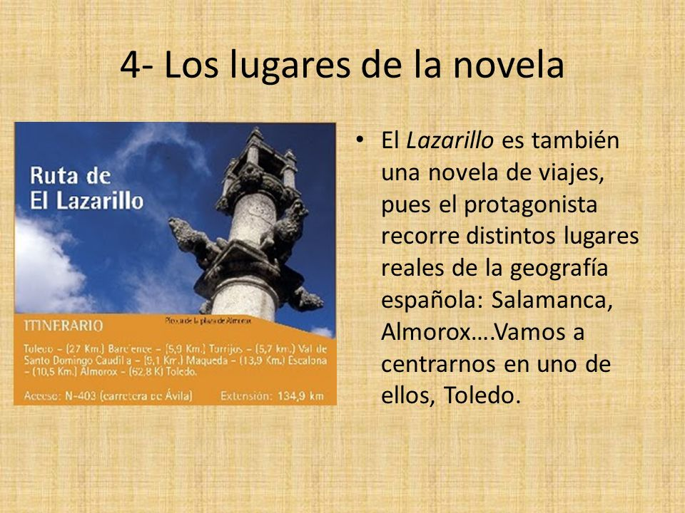 4- Los lugares de la novela
