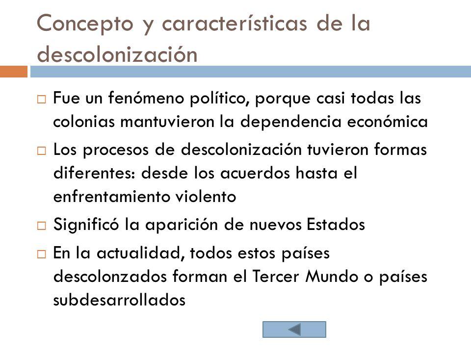 Concepto y características de la descolonización