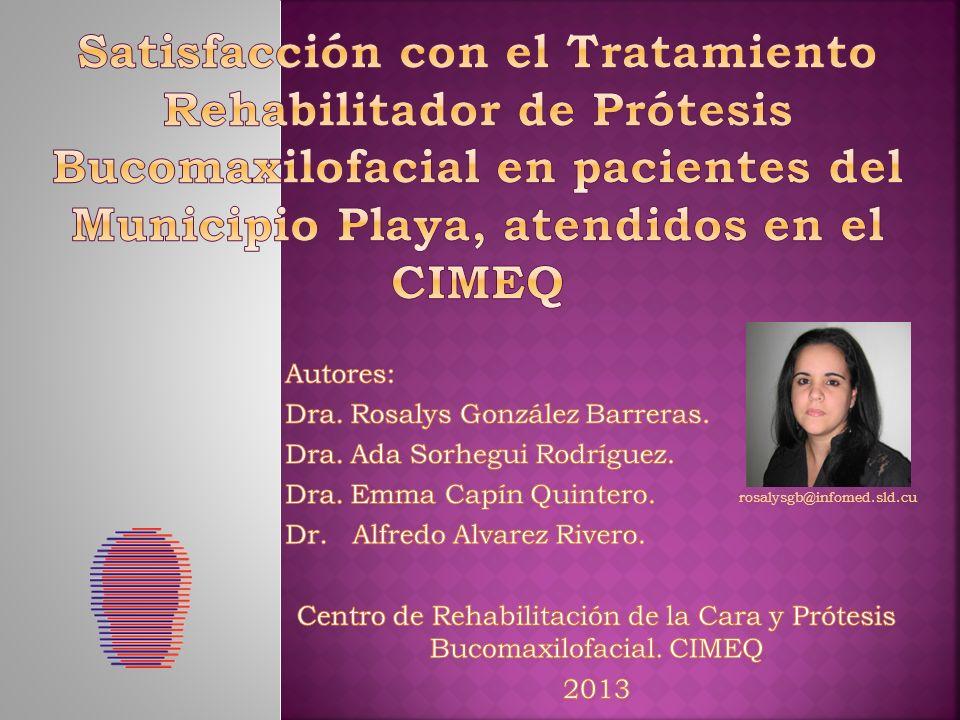 Centro de Rehabilitación de la Cara y Prótesis Bucomaxilofacial. CIMEQ