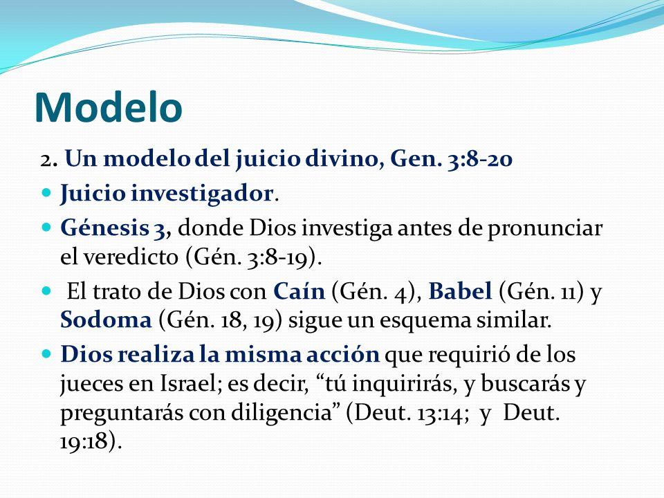 Modelo 2. Un modelo del juicio divino, Gen. 3:8-20