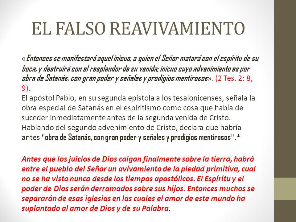 EL FALSO REAVIVAMIENTO