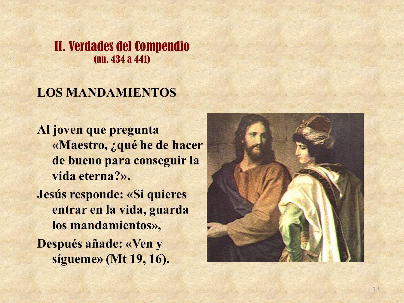 II. Verdades del Compendio (nn. 434 a 441)