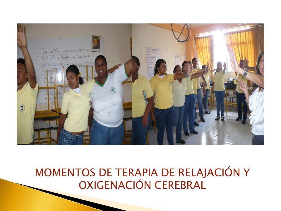 MOMENTOS DE TERAPIA DE RELAJACIÓN Y OXIGENACIÓN CEREBRAL