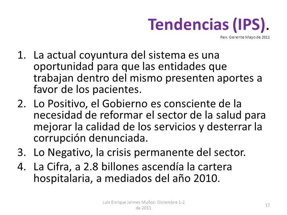 Tendencias (IPS). Rev. Gerente Mayo de 2011