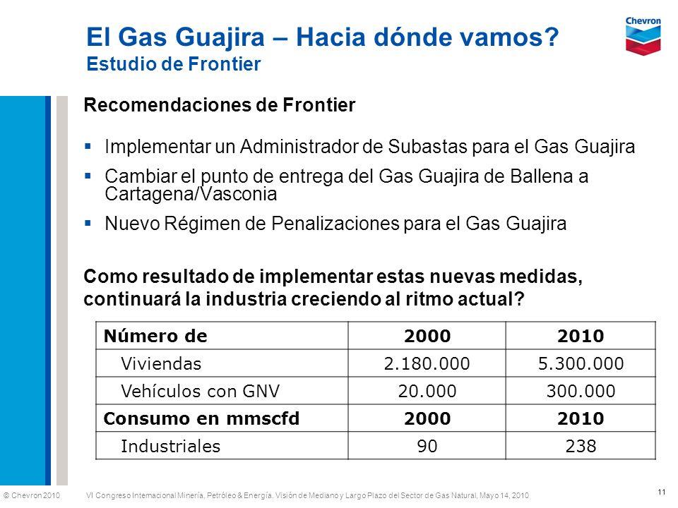El Gas Guajira – Hacia dónde vamos Estudio de Frontier