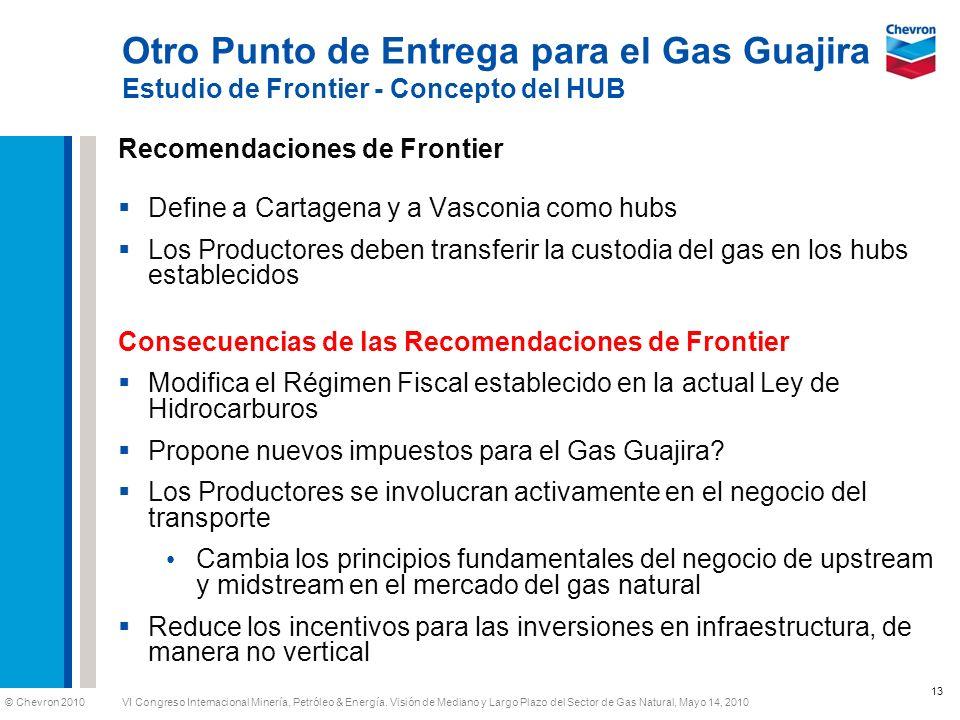 Otro Punto de Entrega para el Gas Guajira Estudio de Frontier - Concepto del HUB