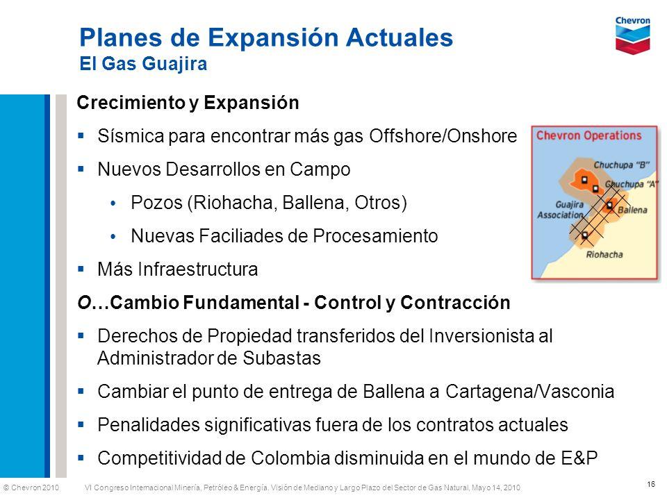 Planes de Expansión Actuales El Gas Guajira