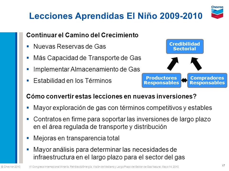 Lecciones Aprendidas El Niño 2009-2010