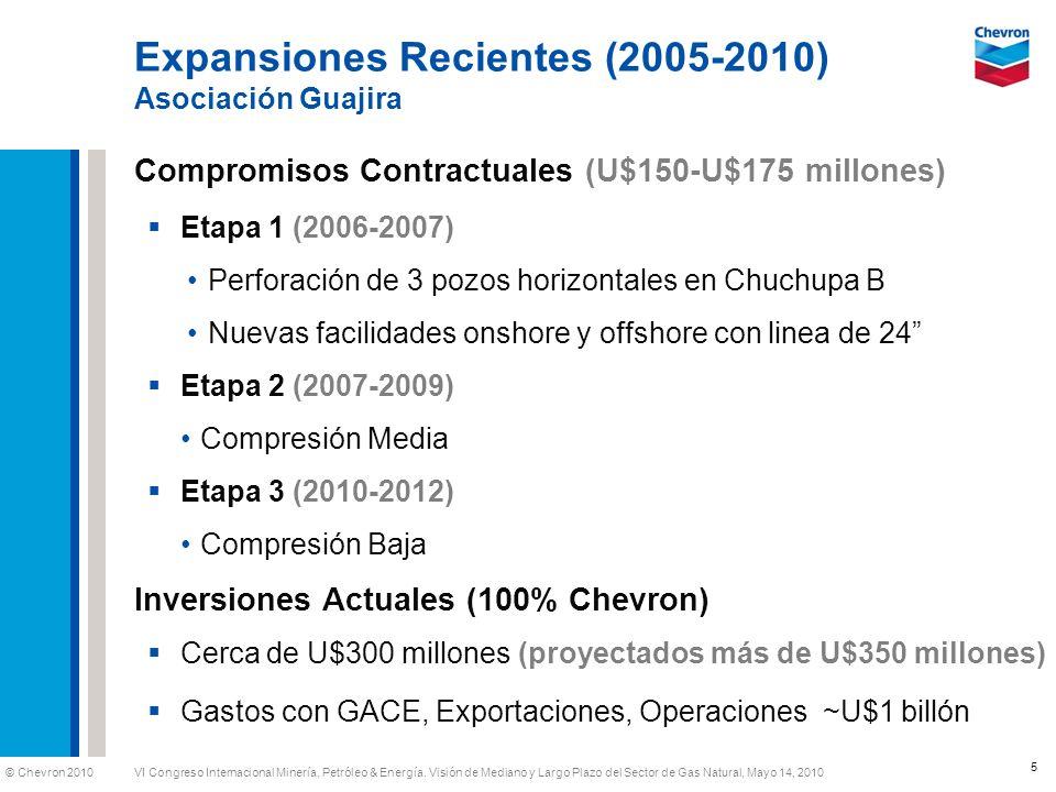 Expansiones Recientes (2005-2010) Asociación Guajira