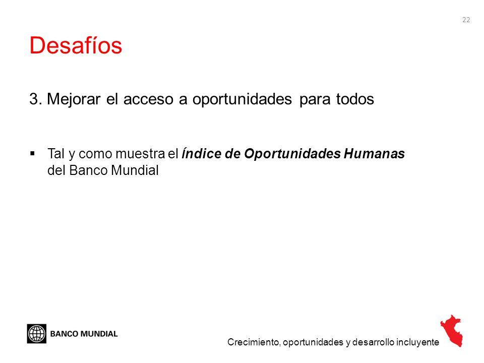 Desafíos 3. Mejorar el acceso a oportunidades para todos