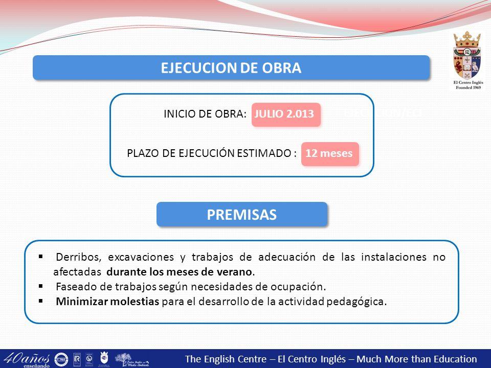 EJECUCION DE OBRA PREMISAS