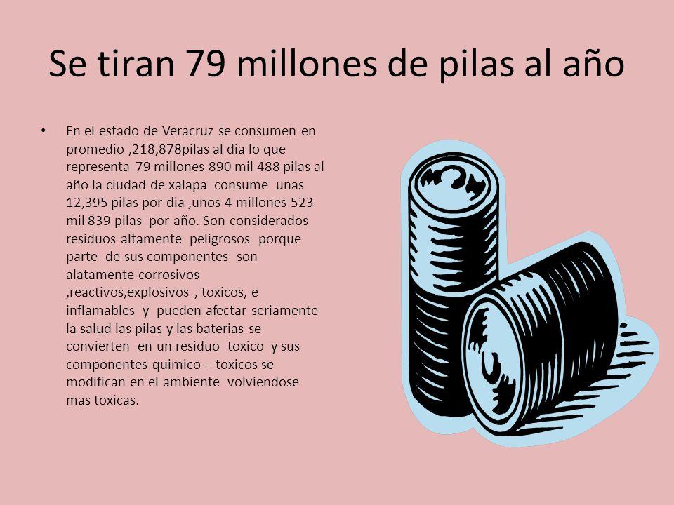 Se tiran 79 millones de pilas al año
