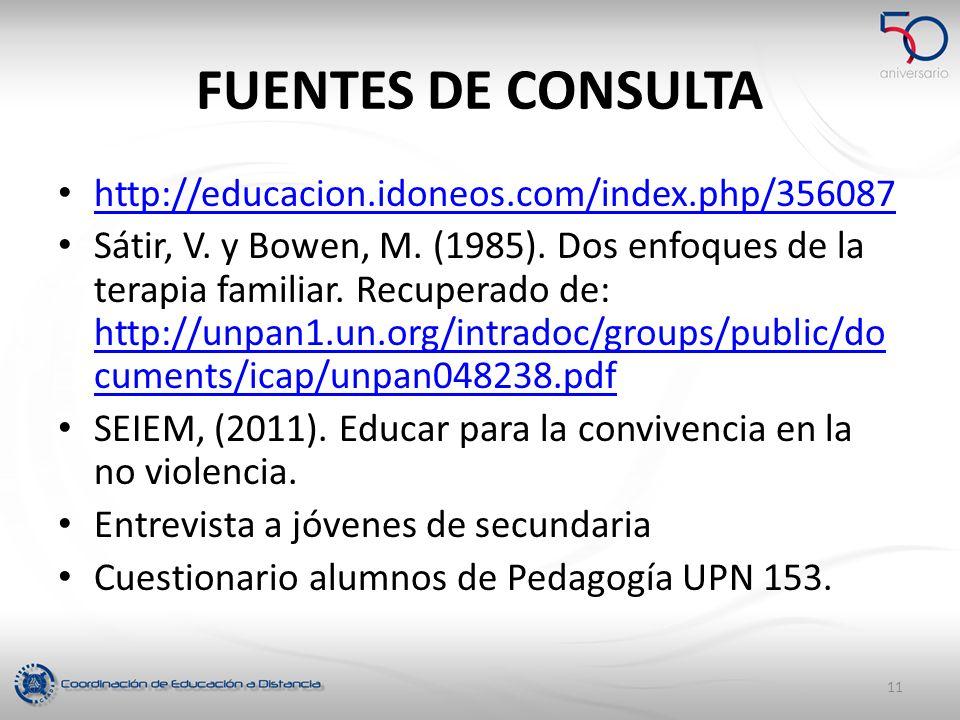 FUENTES DE CONSULTA http://educacion.idoneos.com/index.php/356087