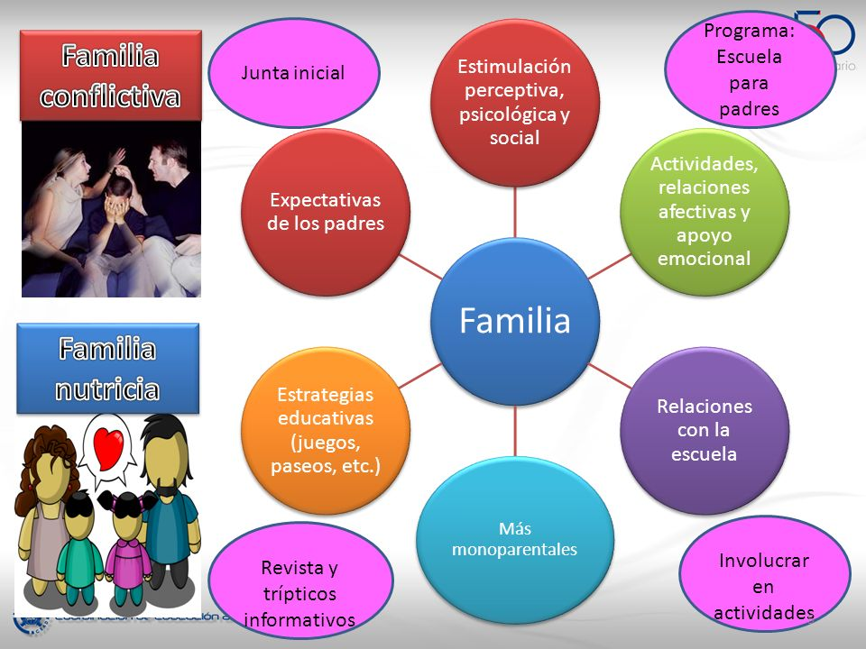 Familia conflictiva Familia nutricia