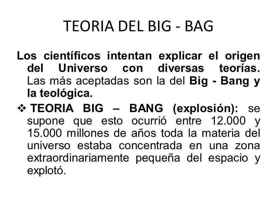 TEORIA DEL BIG - BAG
