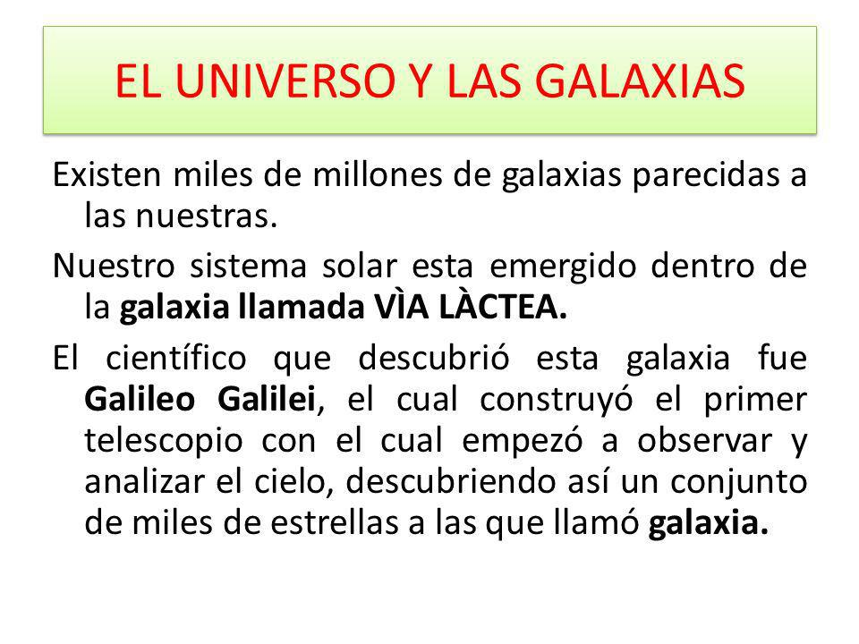 EL UNIVERSO Y LAS GALAXIAS