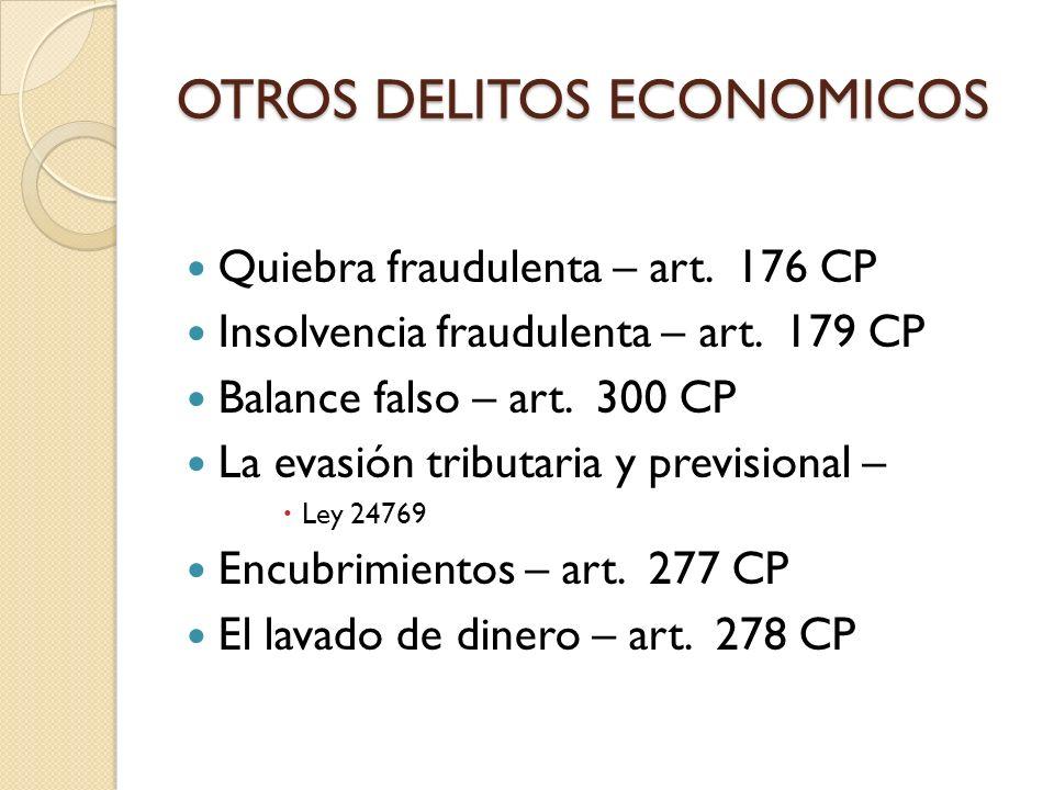OTROS DELITOS ECONOMICOS