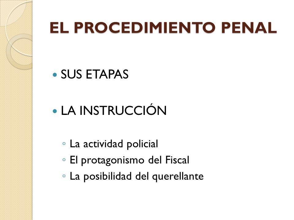 EL PROCEDIMIENTO PENAL