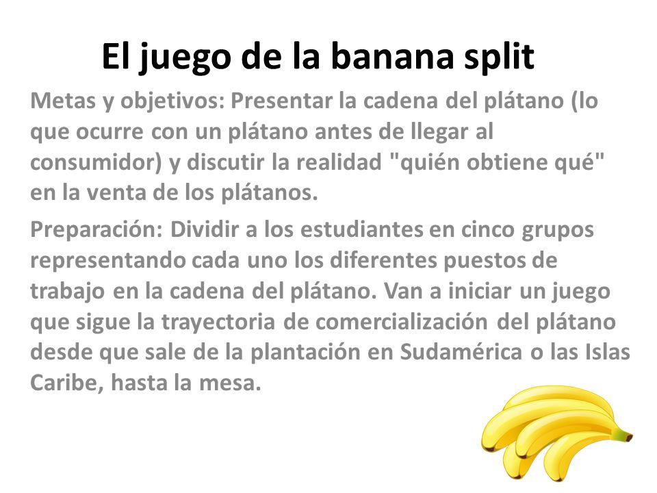 El juego de la banana split