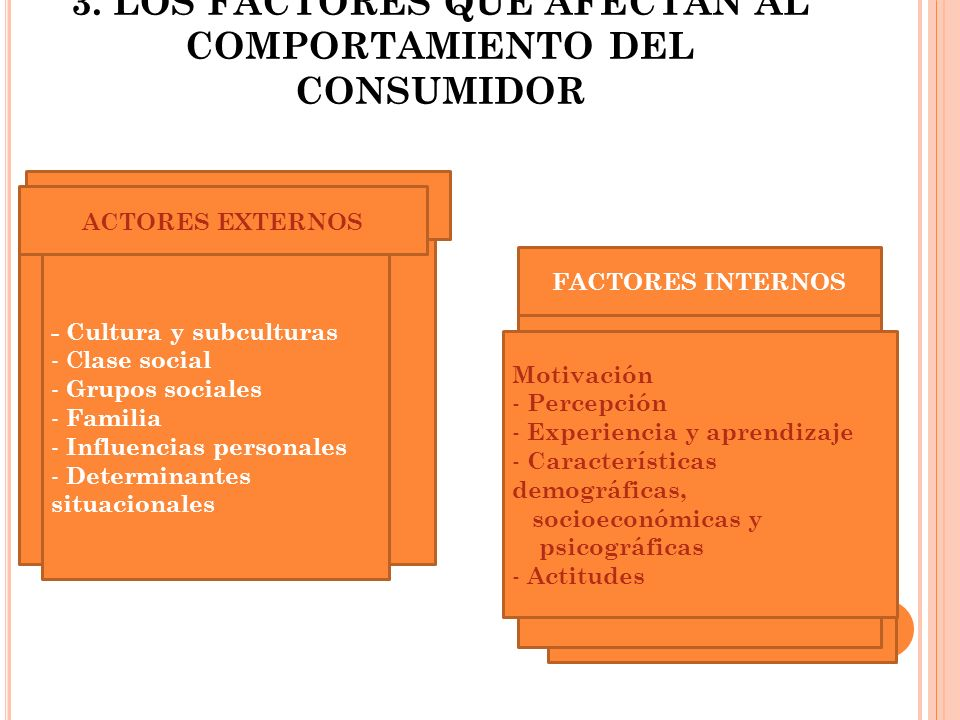 3. LOS FACTORES QUE AFECTAN AL COMPORTAMIENTO DEL CONSUMIDOR