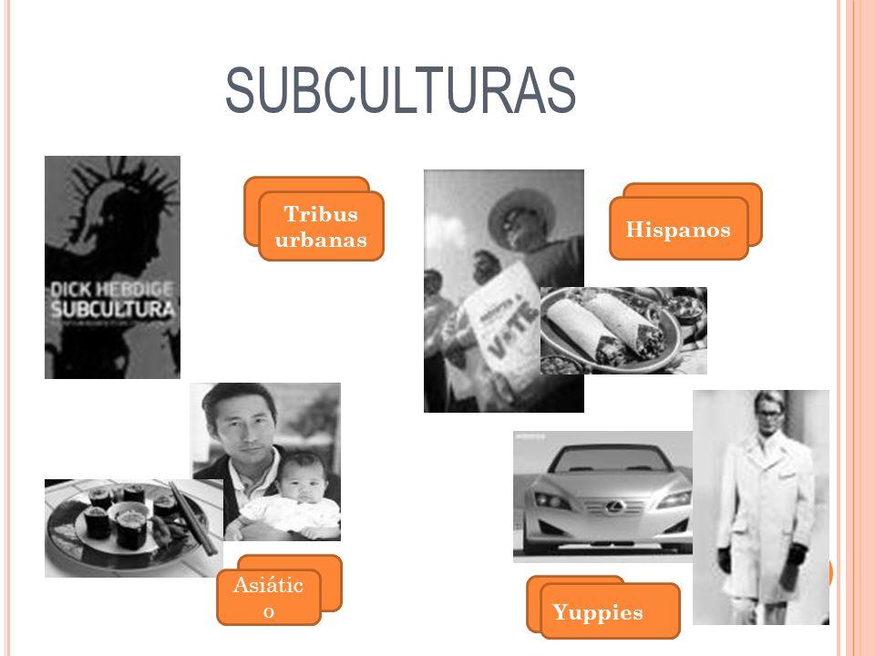 SUBCULTURAS Tribus urbanas Hispanos Asiático Yuppies