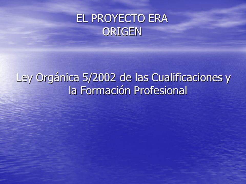 Ley Orgánica 5/2002 de las Cualificaciones y la Formación Profesional