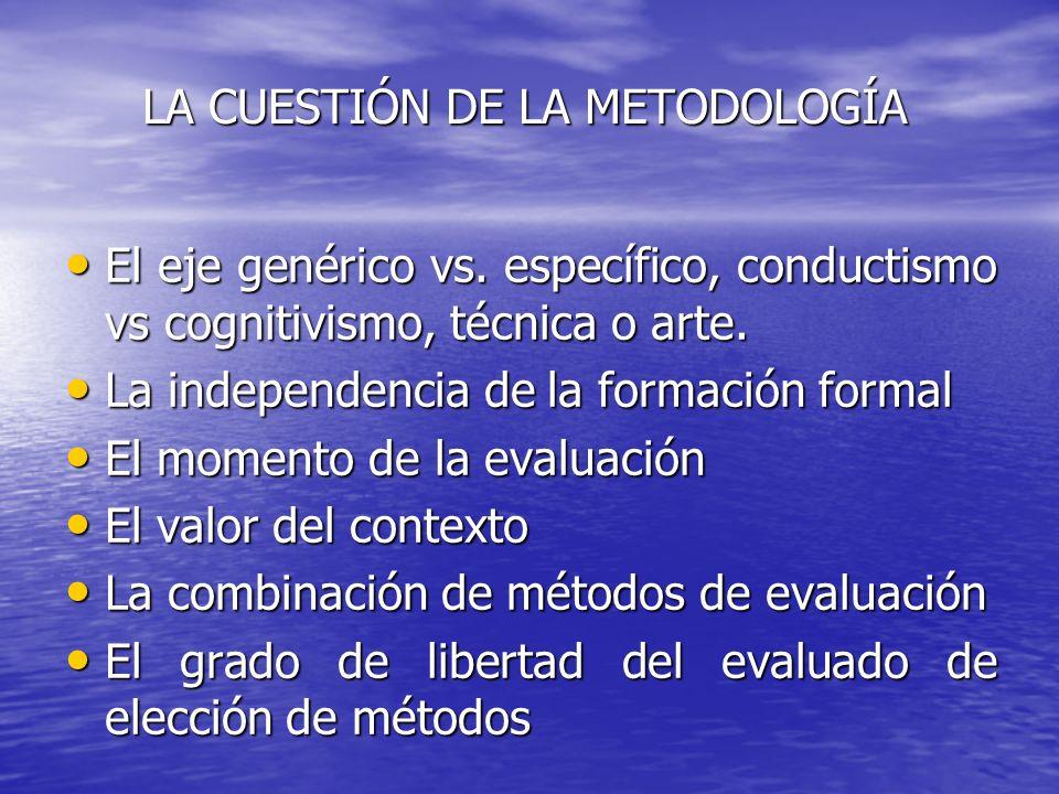 LA CUESTIÓN DE LA METODOLOGÍA