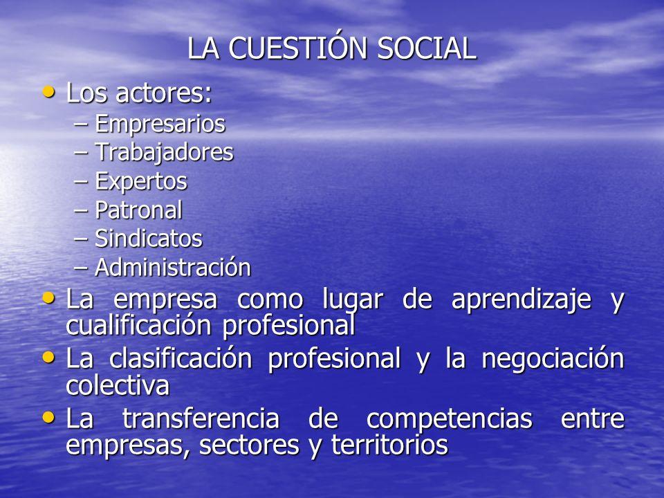 LA CUESTIÓN SOCIAL Los actores: