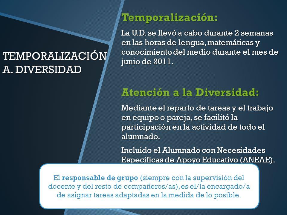 TEMPORALIZACIÓN A. DIVERSIDAD