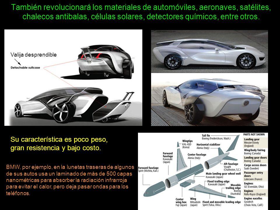 También revolucionará los materiales de automóviles, aeronaves, satélites, chalecos antibalas, células solares, detectores químicos, entre otros.