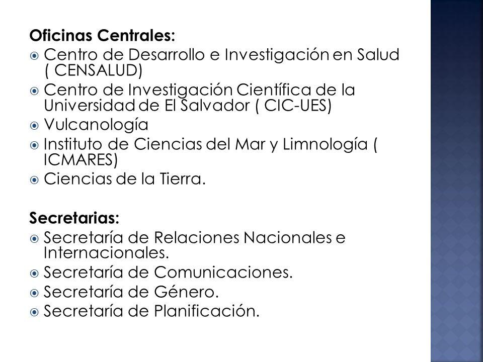 Oficinas Centrales: Centro de Desarrollo e Investigación en Salud ( CENSALUD)