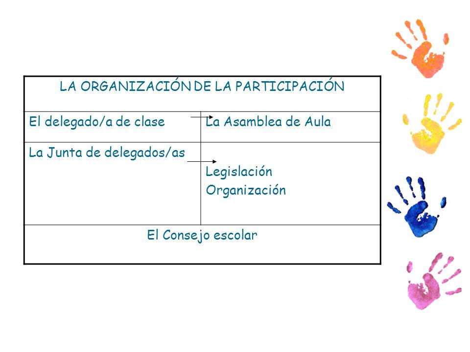 LA ORGANIZACIÓN DE LA PARTICIPACIÓN