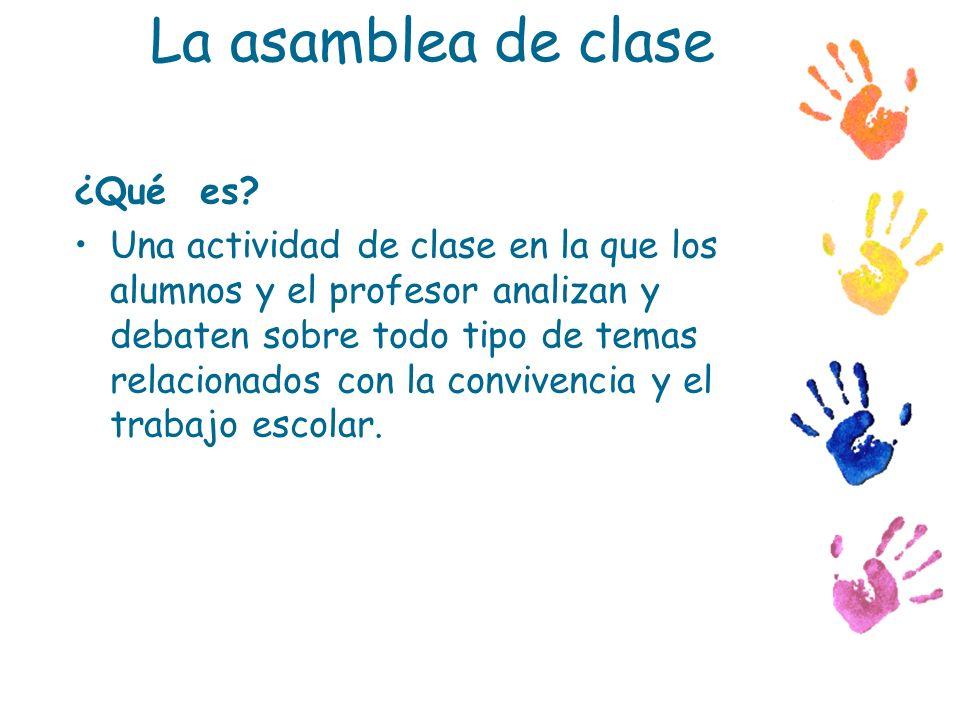 La asamblea de clase ¿Qué es