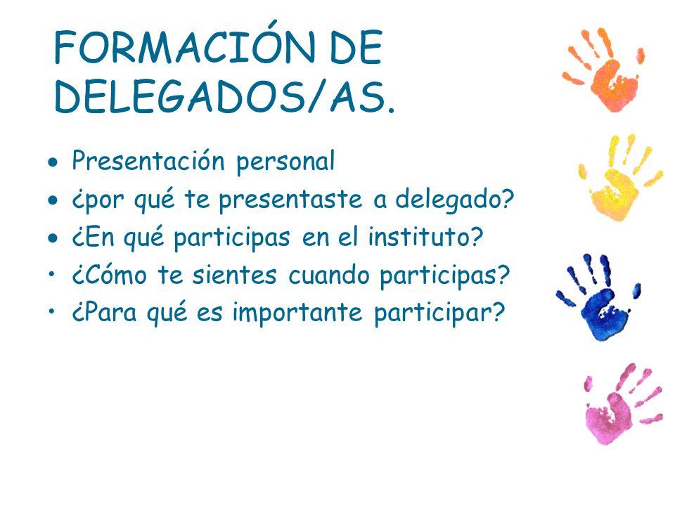 FORMACIÓN DE DELEGADOS/AS.