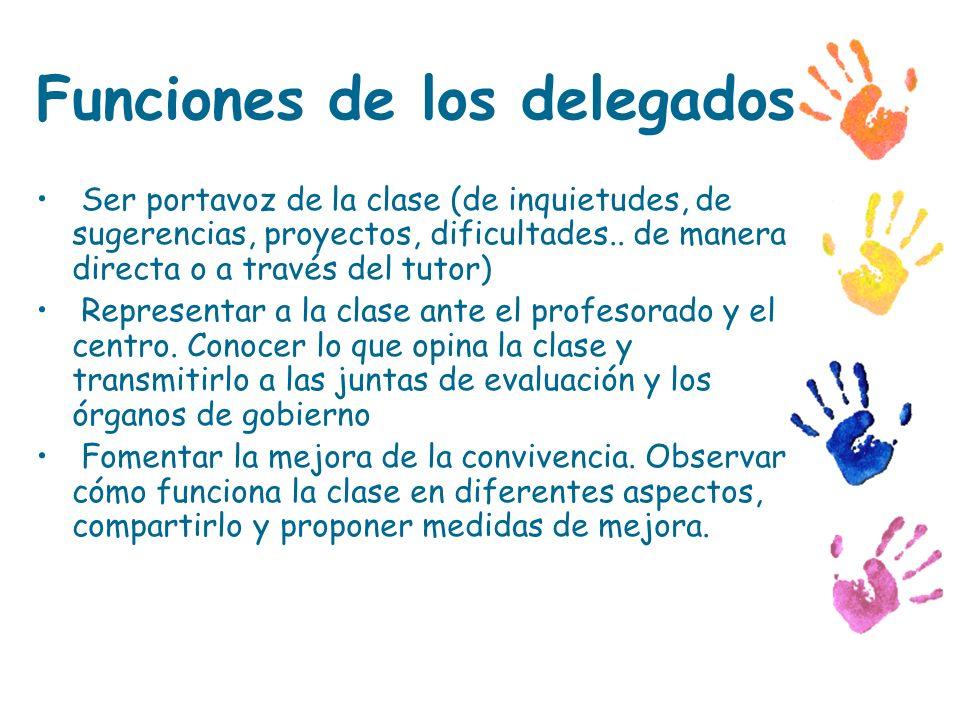 Funciones de los delegados