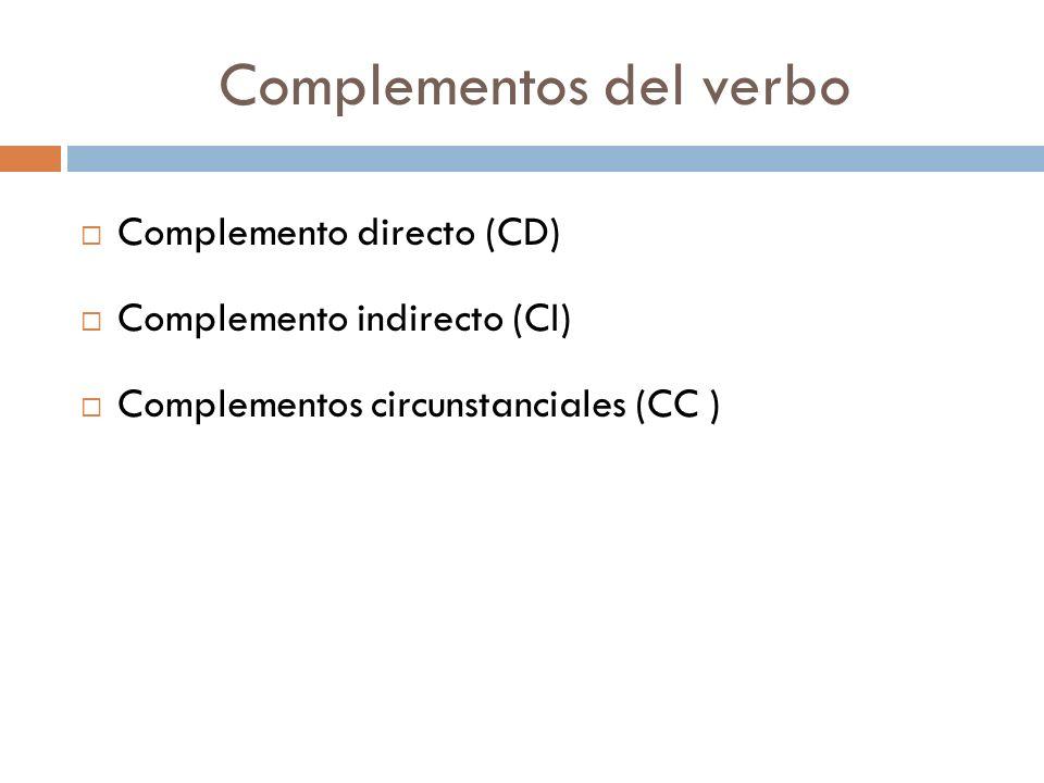 Complementos del verbo