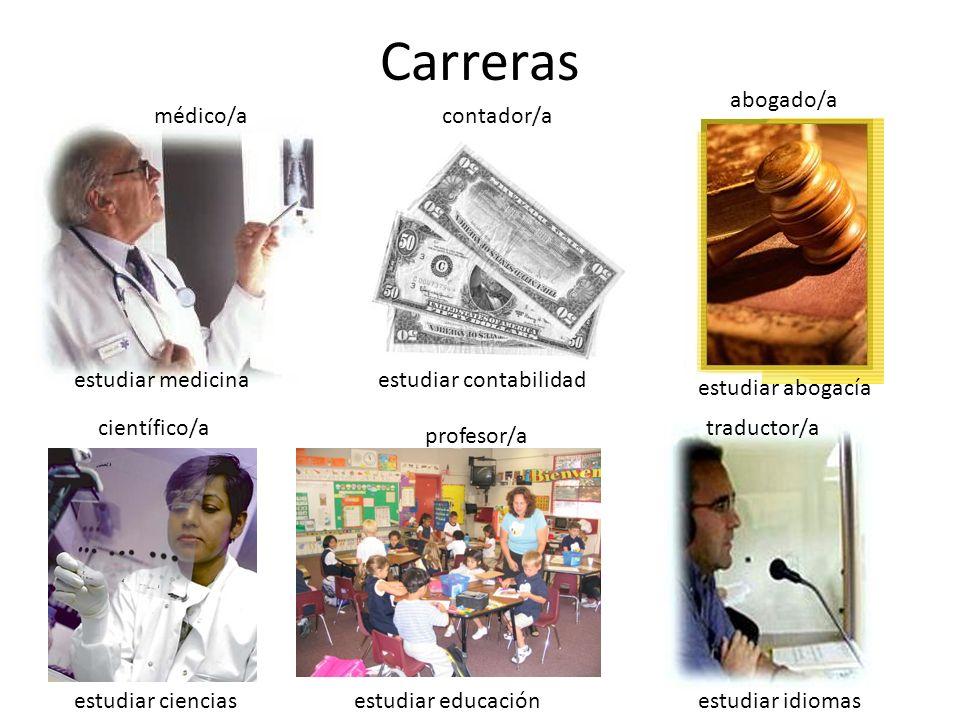 Carreras abogado/a médico/a contador/a estudiar medicina