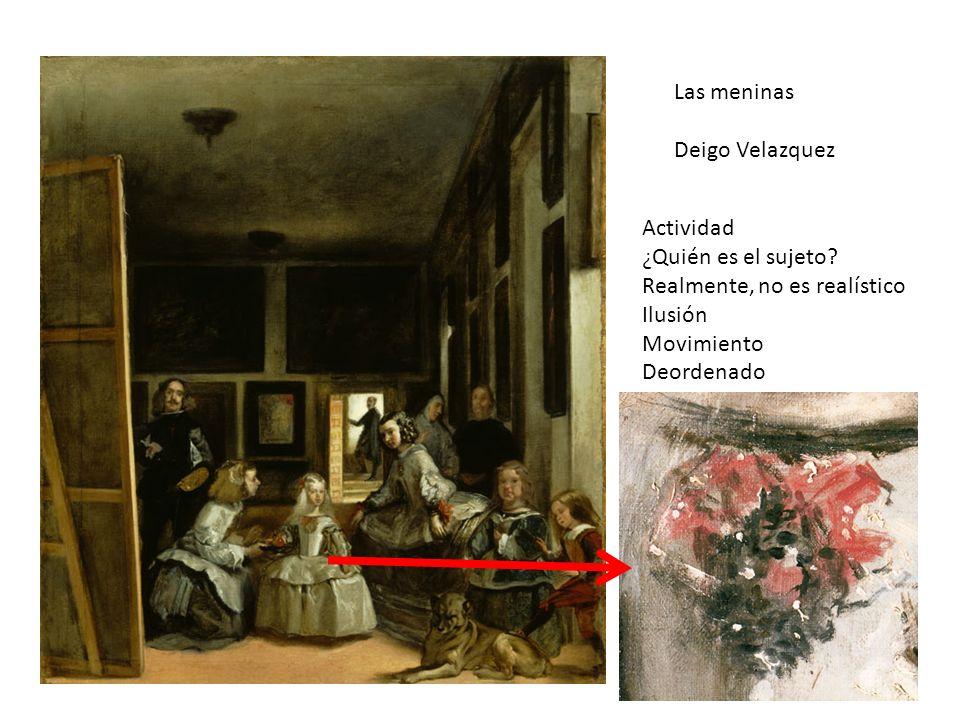 Las meninas Deigo Velazquez. Actividad. ¿Quién es el sujeto Realmente, no es realístico. Ilusión.