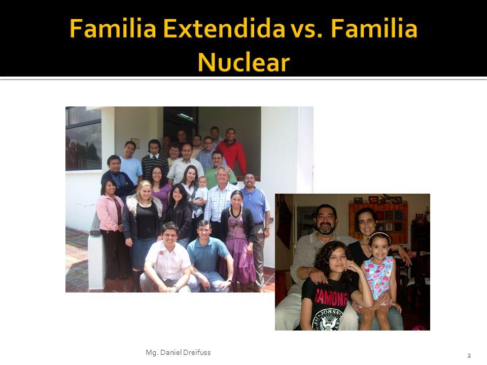 Familia Extendida vs. Familia Nuclear
