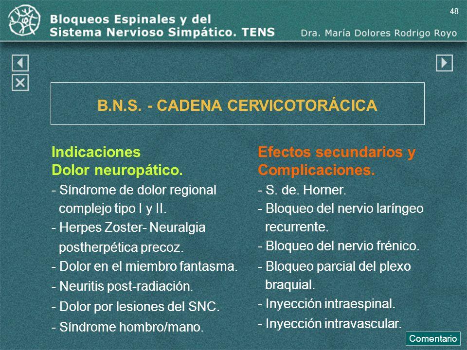 B.N.S. - CADENA CERVICOTORÁCICA