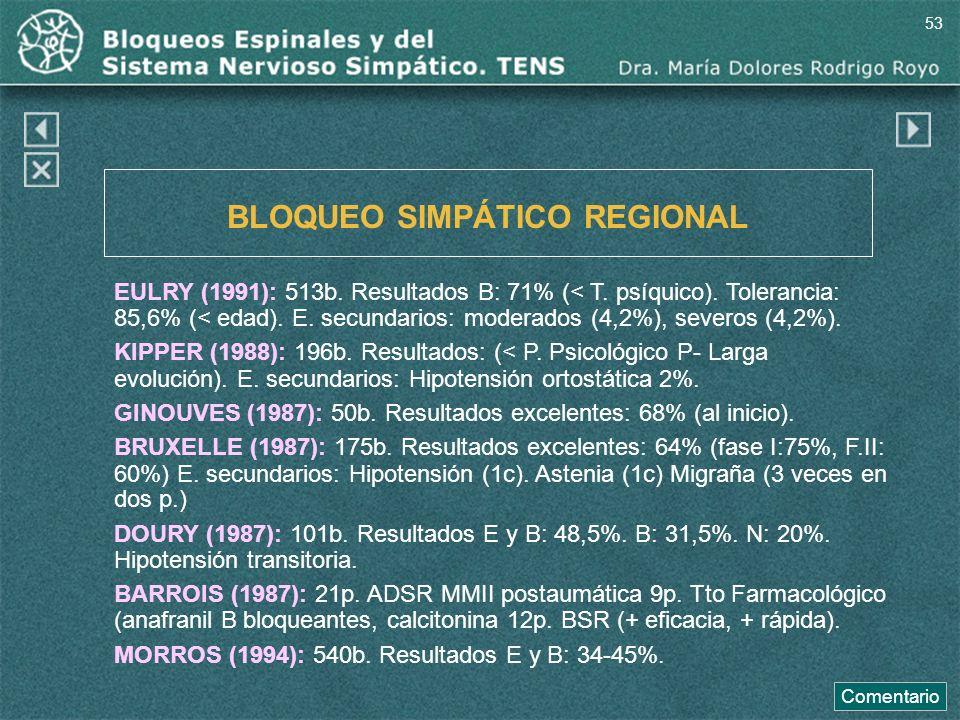 BLOQUEO SIMPÁTICO REGIONAL