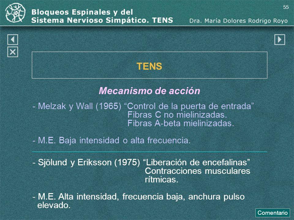 TENS Mecanismo de acción