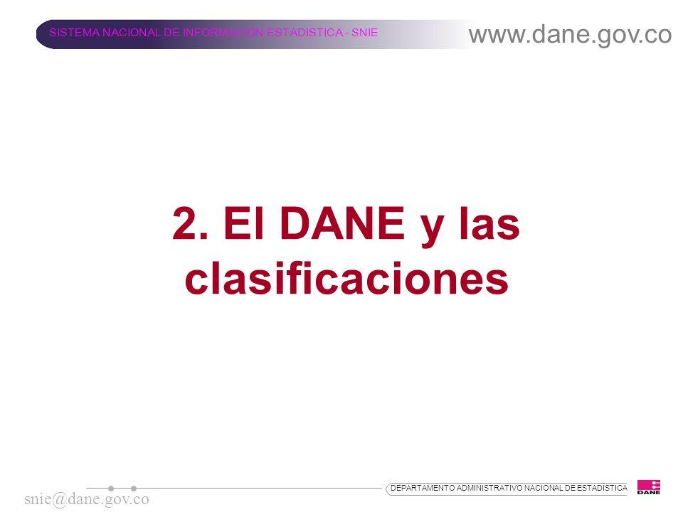 2. El DANE y las clasificaciones