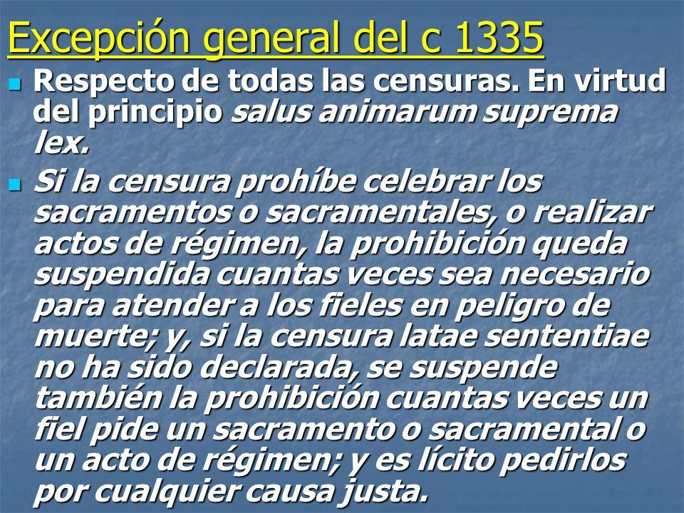 Excepción general del c 1335